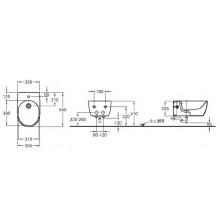 KERAMAG ICON bidet závěsný 35,5X54cm s otvorem pro baterii, bílá