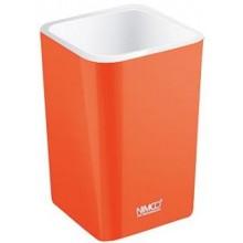 NIMCO ELI pohárek na kartáčky 75x75x112mm oranžová EL 3058-20