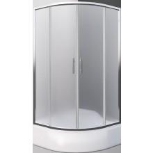 ROLTECHNIK SANIPRO PORTLAND NEO/800 sprchový kout 800x1650mm čtvrtkruhový, s posuvnými dveřmi, brillant/matt glass