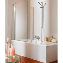Zástěna vanová Huppe - 501 Design 75x76,5x135 cm stř.lesk./sklo+AP