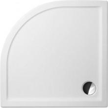 ROLTECHNIK FLAT ROUND sprchová vanička 900x900x50mm R550 akrylátová, čtvrtkruhová, bílá