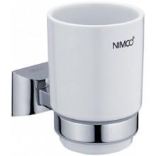 NIMCO PALLAS ATHÉNA držák se skleničkou 84x104x125mm chrom/ bílá PA 12058K-26