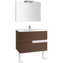 Nábytek sestava Roca Pack Victoria-N skříňka s umyv.+zrcadlo s osvětlením 80 cm dub