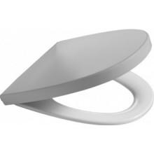 Sedátko WC Roca duraplastové s kov. panty Khroma   Silver Grey