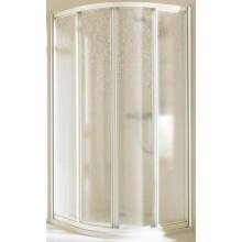 Zástěna sprchová čtvrtkruh Huppe plast Alpha 501 80x80 cm bílá/plast