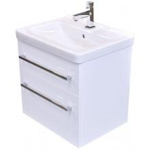 EDEN SMARAGD umyvadlová skříňka 51,6x54cm s umyvadlem Jika Cubito, závěsná, bílá lesk/bílá lesk