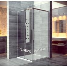 SANSWISS PUR LIGHT S PLSE2 sprchové dveře 800x2000mm, dvoudílné posuvné, rohový vstup, levý díl, aluchrom/čirá
