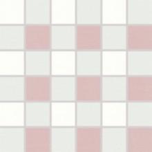RAKO TENDENCE mozaika 30x30cm, lepená na síťce, bílo-fialová