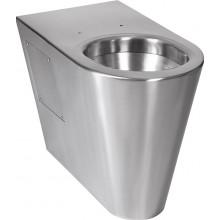 SANELA SLWN13 WC 360x700x500mm, na podlahu, pro tělesně handicapované, antivandal, nerez mat