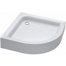 Vanička plastová Kolo čtvrtkruh Standard plus s integrovaným panelem 90x90 cm bílá