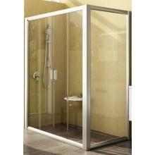 Zástěna sprchová dveře Ravak sklo RPS-80  pevná stěna (9RV40100ZG) 800x1900 mm bílá/grape