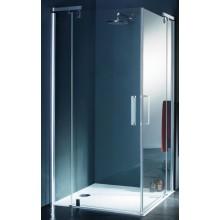 Zástěna sprchová dveře Huppe sklo Refresh pure Akce 900x900x1943 mm stříbrná matná/čiré AP