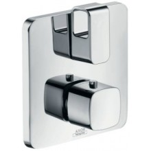 HANSGROHE AXOR URQUIOLA termostat 170x170mm, s podomítkovou instalací, s uzavíracím a přepínacím ventilem, chrom