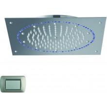 CRISTINA SANDWICH COLOURS sprcha hlavová s osvětlením, Antikalk-system, 270x240mm, light blue LISPD02603