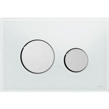 TECE LOOP ovládací tlačítko 220x150x11mm pro WC, bílé sklo/lesklý chrom