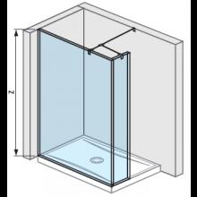 JIKA PURE boční stěna 120cm, transparentní 2.6742.6.002.668.1