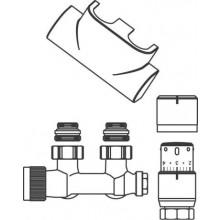 CONCEPT SADA 4 připojovací sada Multiblock T/UNI SH pro koupelnová otopná tělesa, rohová, chrom