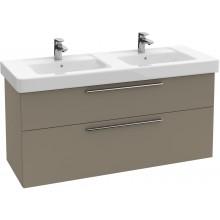 Nábytek skříňka pod umyvadlo Villeroy & Boch Verity Design 1250x575x450 mm antracitová lesk