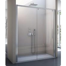 SANSWISS PUR LIGHT S PLS2 sprchové dveře 1500x2000mm, jednodílné, posuvné, s pevnou stěnou, pravý, aluchrom/čirá