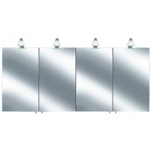 Nábytek zrcadlová skříňka Keuco Royal 30 05605171301 160x75,8x14,3cm stř.elox/sklo bílé