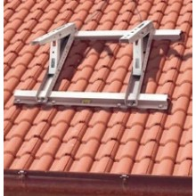 DE DIETRICH konzoly na šikmou střechu 800x450mm, kotvení na tašky, šedobílá RAL 9002