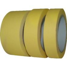 DEN BRAVEN maskovací páska 25mmx50m, krepová, světle žlutá