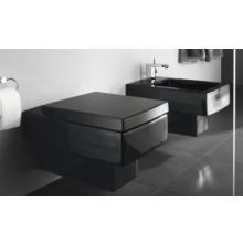 WC závěsné Duravit odpad vodorovný Vero s splach. 37x54 cm černá+ wondergliss