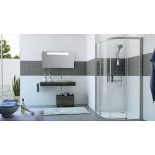HÜPPE CLASSICS 2 EASY ENTRY B1/B2 posuvné dveře 900x900x200mm stříbrná pololesklá/sklo čiré AntiPlaque