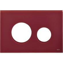 TECE LOOP kryt 220x150mm, pro kombinaci s tlačítkovou deskou, sklo/rubínově červená