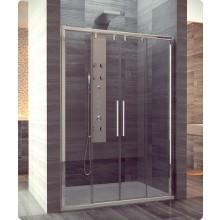 PLS4: Dvoudílné posuvné dveře s 2 pevnými stěnami v rovině