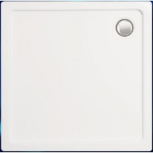 Vanička plastová Vagner plast čtverec URAN S 90x90x18 bílá,vč.noh