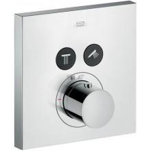 AXOR SHOWERSELECT SQUARE termostatická sprchová baterie 170x170mm podomítková, pro 2spotřebiče, chrom