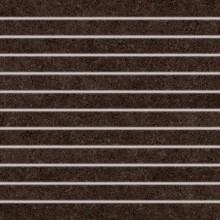 Dlažba Rako Rock proužky 30x30 hnědá