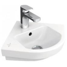 VILLEROY & BOCH SUBWAY 2.0 rohové umývátko 355x320x140mm, bez přepadu, Bílá Alpin CeramicPlus