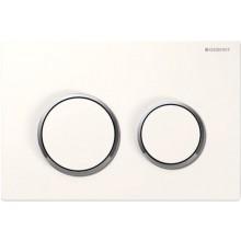 GEBERIT KAPPA 21 ovládací tlačítko 21,2x1,4x14,2cm, bílá/pochromovaná lesklá/bílá