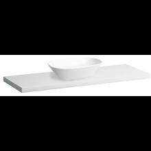 LAUFEN PALOMBA COLLECTION deska 1290x476x45mm s výřezem vpravo, bílá 4.0680.3.180.220.1