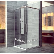SANSWISS PUR LIGHT S PLSE2 sprchové dveře 900x2000mm, dvoudílné posuvné, rohový vstup, pravý díl, aluchrom/čirá
