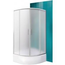 ROLTECHNIK SANIPRO PORTLAND NEO/900 sprchový kout 900x1650mm R550 čtvrtkruh, s posuvnými dveřmi, brillant/matt glass