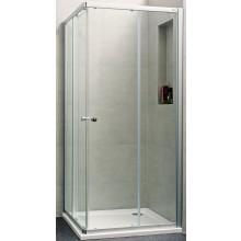 Zástěna sprchová čtverec - sklo Concept 100 NEW, posuvné dveře 2-dílné 800x800x1900 mm stříbrná matná/čiré AP