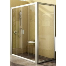 Zástěna sprchová boční Ravak sklo Rapier RPS-100 1000x1900mm white/grape