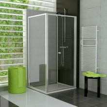 Zástěna sprchová boční Ronal sklo TOP-line 800x1900 mm bílá/mastercarré AQ