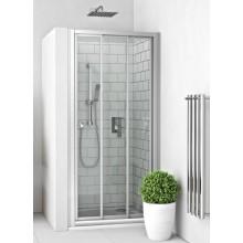 EASY EPD3 1000/1900 B/CS sprchové dveře 1000x1900mm posuvné, oboustranný vstup, do niky, bílá/transparent