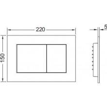 TECE NOW ovládací tlačítko 220x150mm, dvoumnožstevní splachování, černá