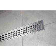 Odtokový žlab pro umístění u boční stěny (levá nebo pravá). Žlab je opatřen jednou svislou (stěnovou) přírubou a třemi vodorovnými (podlahovými).