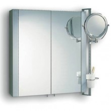 Nábytek zrcadlová skříňka Duravit Multibox skleněné police 60x66x18 cm zrcadlo/aluminium