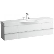 Nábytek skříňka pod umyvadlo Laufen New Case se 2 zásuvkami vč.sifonu 179x46 cm bílá