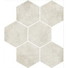 MARAZZI CLAYS dlažba, 21x18cm šestiúhelník, white