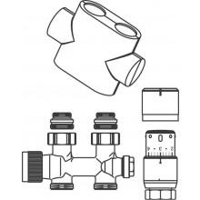 CONCEPT SADA 1 připojovací sada Multiblock T/UNI SH pro koupelnová otopná tělesa, přímá, bílá
