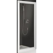 ROLTECHNIK CLASSIC LINE CDO1/800 sprchové dveře 800x1836mm jednokřídlé pro instalaci do niky, bílá/bark (kůra)