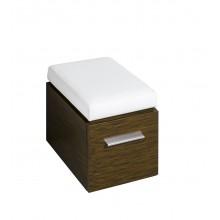 KERAMAG SILK sedák 38x45/49x56cm, nastavitelný ve dvou výškách, wenge Pangar pravá přírodní dýha 879340000